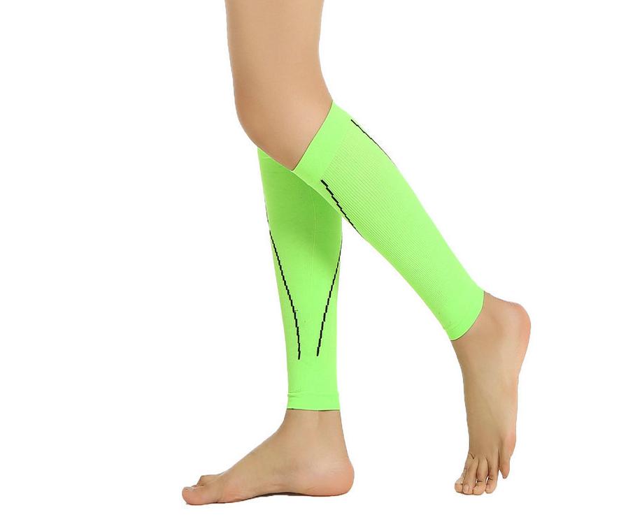 Pair Anti Fatigue Leg Calf Wrap Varicose Veins Compression Support Socks L