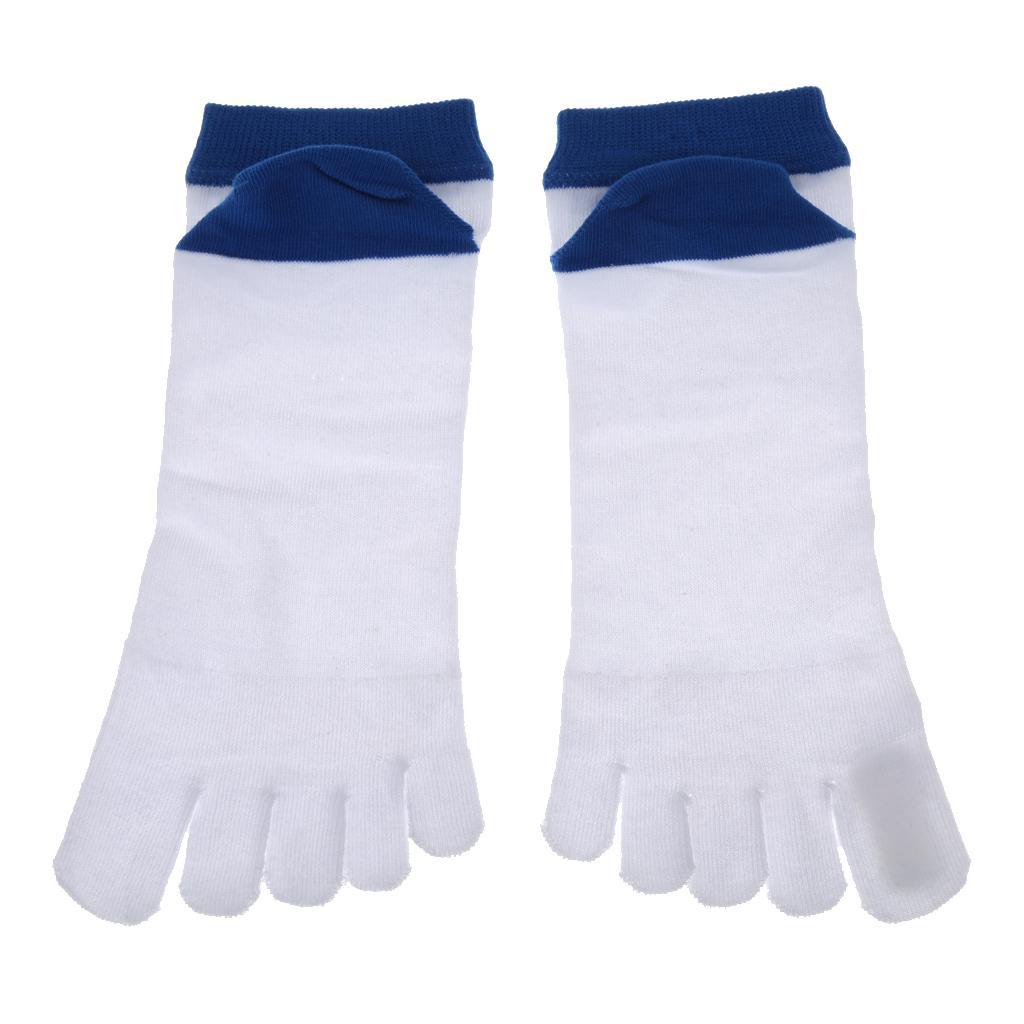 Pair Men's Breathable 5 Toe Socks Thin Summer Cotton Five Finger Socks White