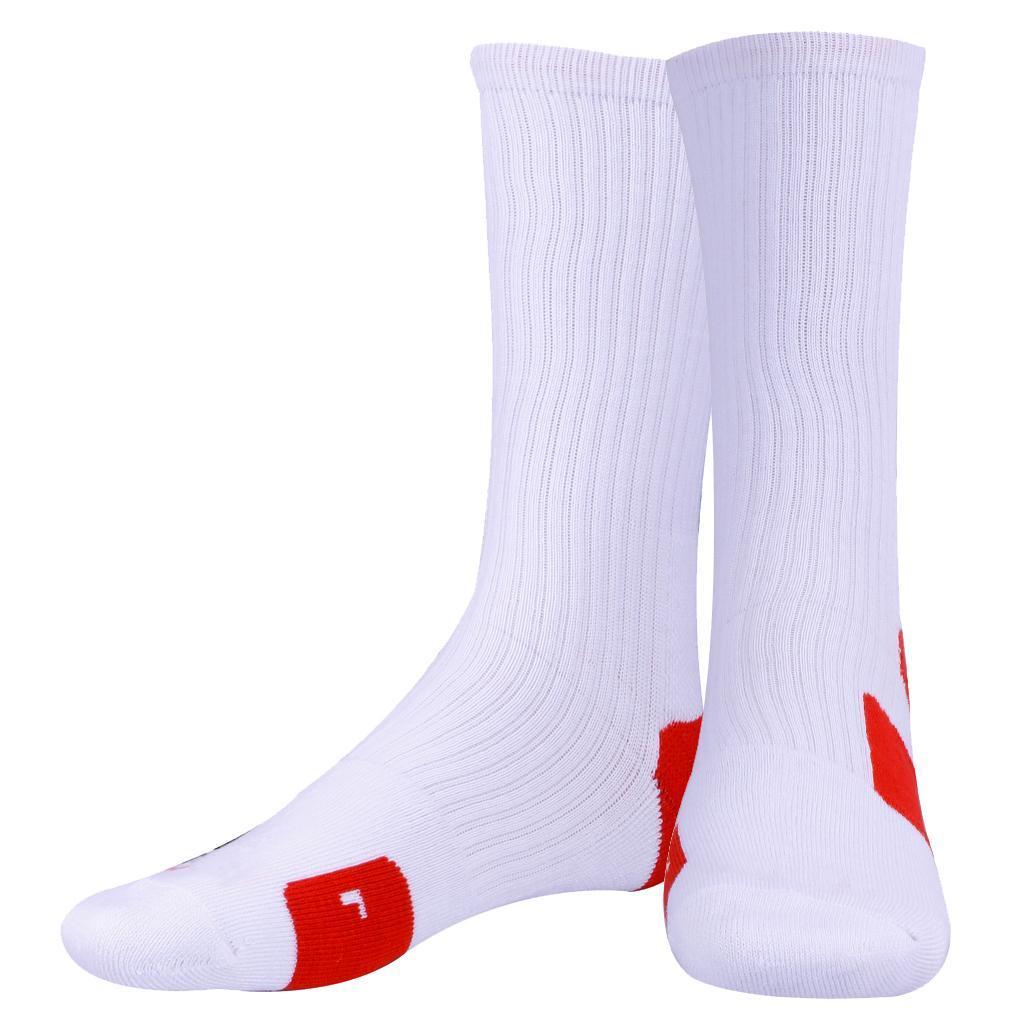 Men Quick-drying Towel Sweat Socks Tube Outdoor Athletic Basketball Socks 04