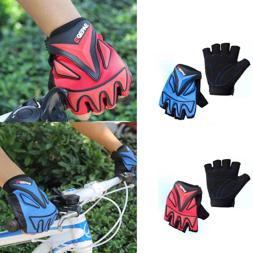 Sports Racing Cycling MTB Bike Bicycle Gel Half Finger Gloves M B...