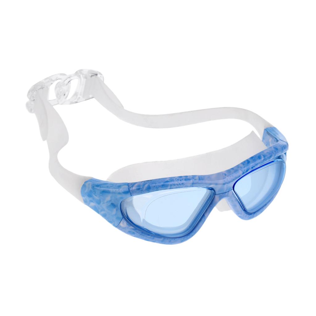 Adult Kids Waterproof Anti-Fog Swim Swimming Goggles Glasses Blue