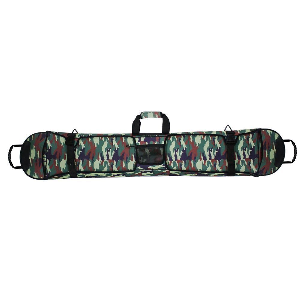 Snowboarding Ski Bag Carry Case Rucksack Cover 145cm Green Single...