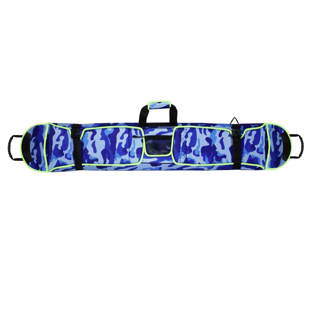 Snowboarding Ski Bag Carry Case Rucksack Cover 155cm Blue Double ...