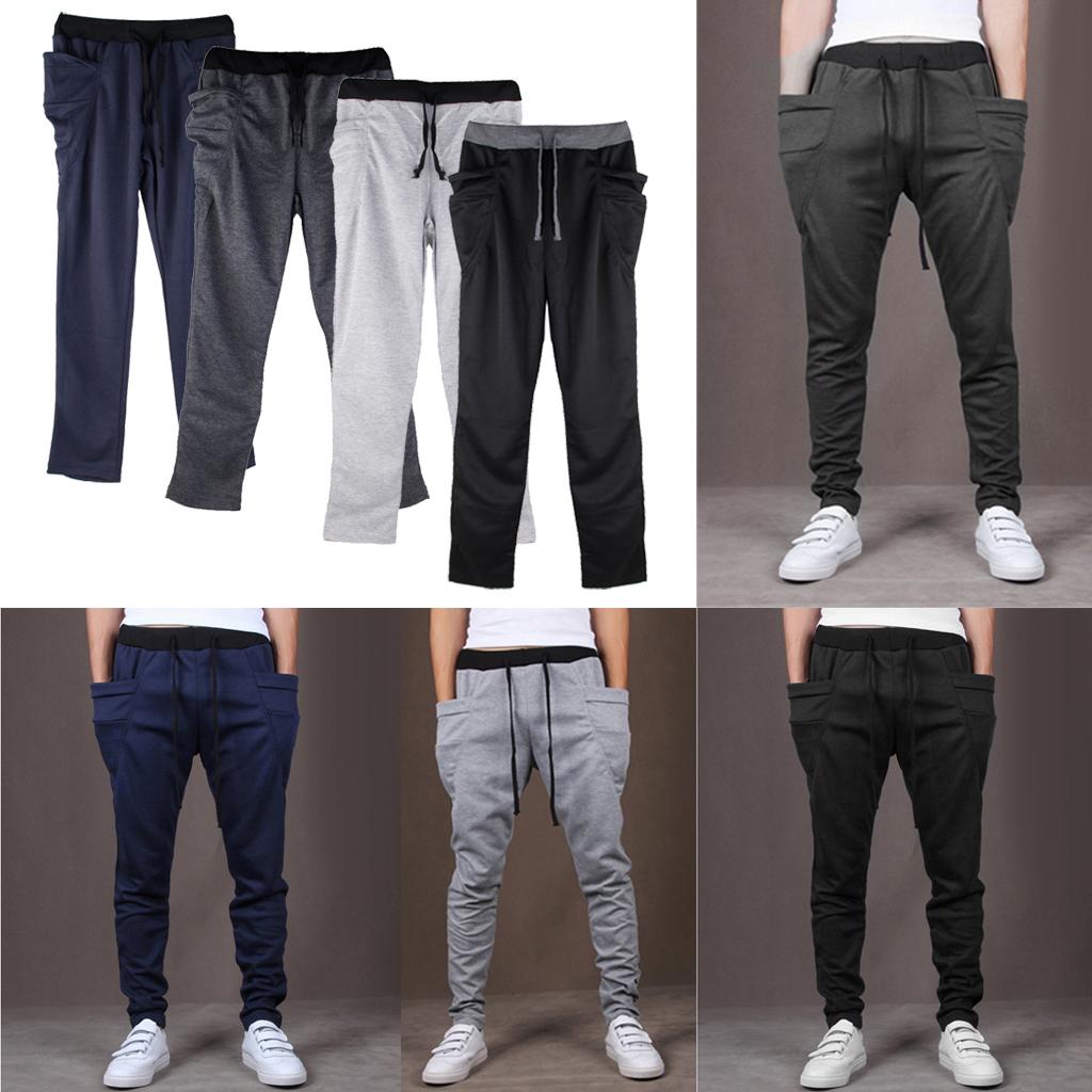 Mens Jogger Dance Sportwear Baggy Harem Pants Trousers Sweatpants Black XXL