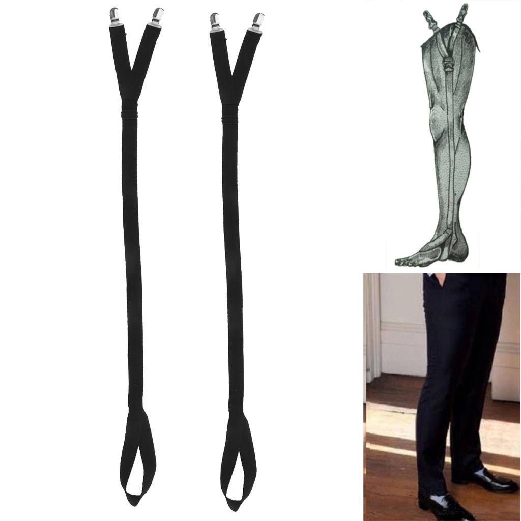 Adjustable Plain 83cm Elastic Mens Shirt Braces Suspenders