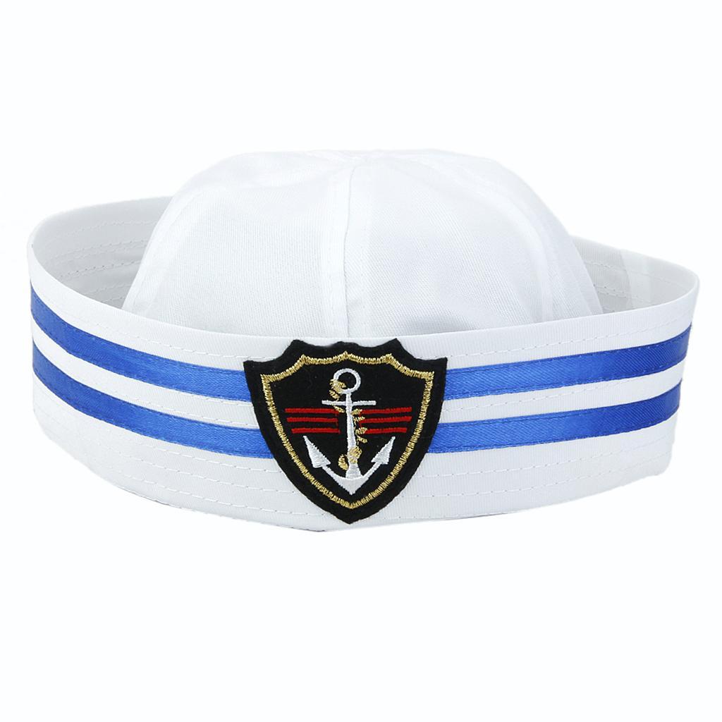 Yacht Boat Captain Sailor Hat Skipper Navy Marine Cap Costume Party Dress #2