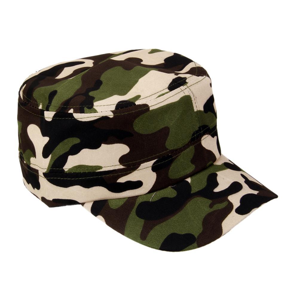 Cappello Mimetico Militare Baseball Cap Camuffamento Uomo Donna Camo Hat #1