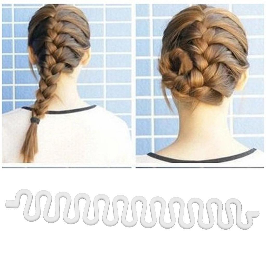 Womens Centipede Braid Twist Hair Braider DIY Hair Styling Tool White