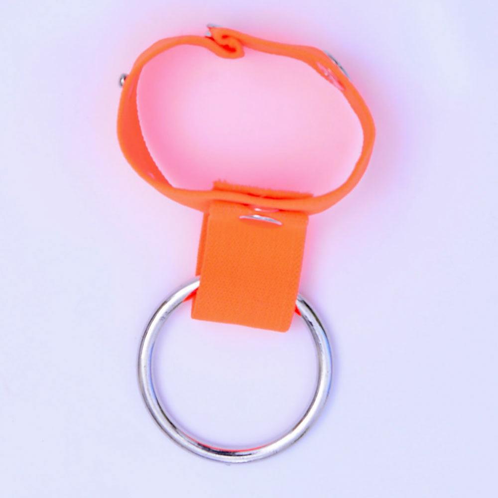 Sexy Men G-string Thong Opening Ring Underwear Orange