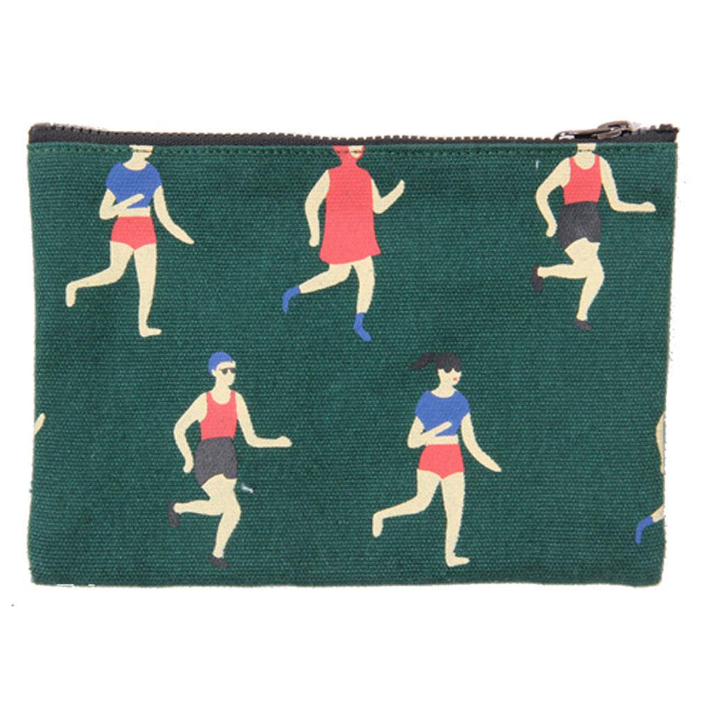New Fashion Women Girls Cloth Wallet Coin Bag Clutch Short Purse Dark Green