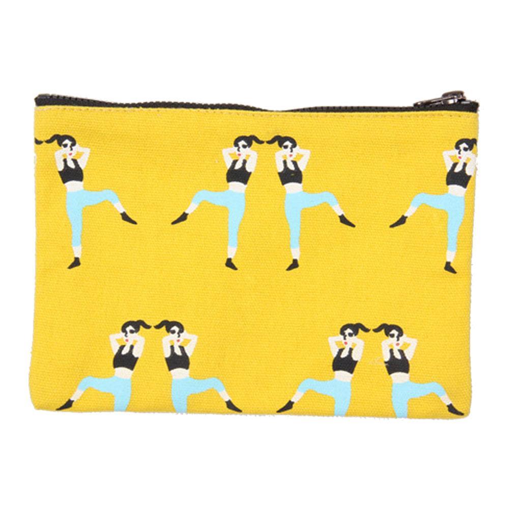 New Fashion Women Girls Cloth Wallet Coin Bag Clutch Short Purse Yellow