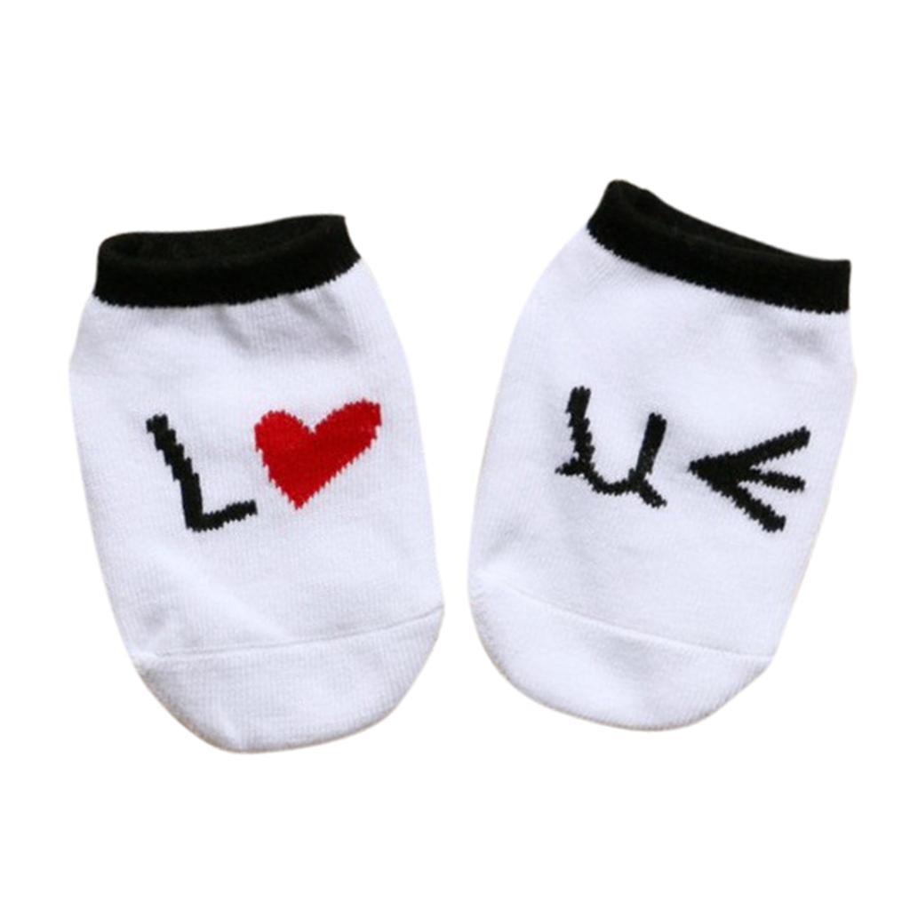Newborn Cotton Anti-slip Floor Socks Ankle Booties White 0-2Y