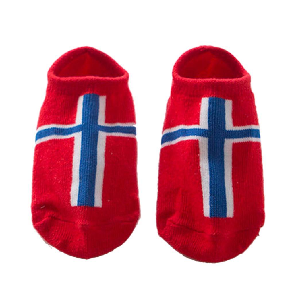 Pairs Kids Toddler Socks Boat Socks For Boys Girl 0-2 Years S Norway Flag