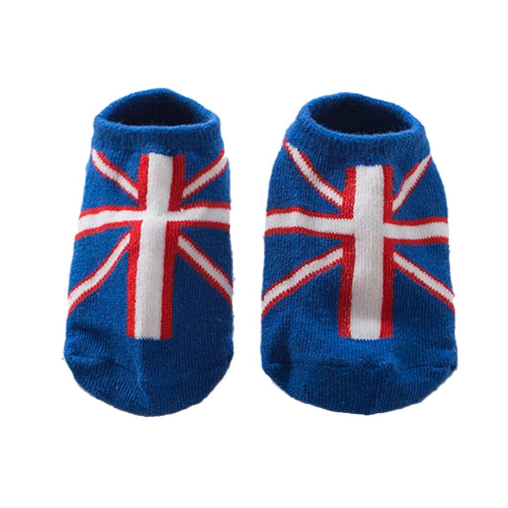 Pairs Kids Toddler Socks Boat Socks For Boys Girl 0-2 Years S Britain Flag