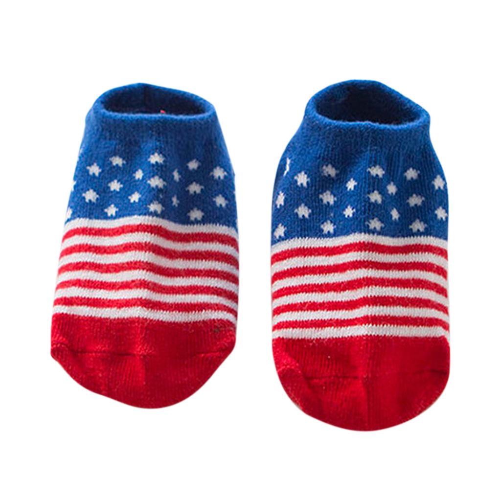 Pairs Kids Toddler Socks Boat Socks For Boys Girl 0-2 Years S American Flag