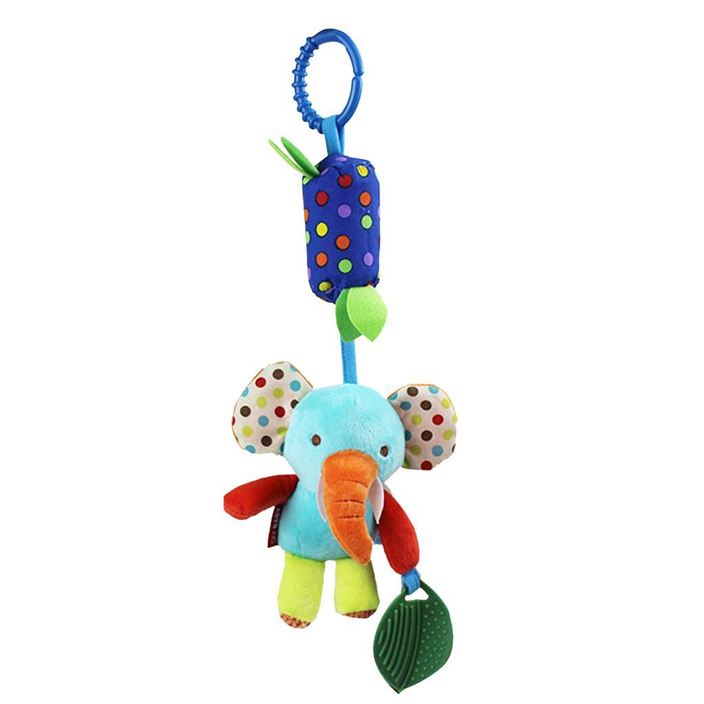 Baby Tinkle Hanging Rattles Puppet Aeolian Bells Crib Stroller Toys Elephant