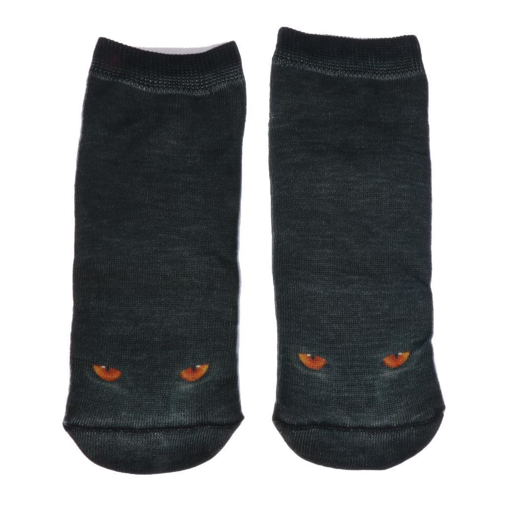 Pair of Cute 3D Cat Print Socks 3D Animal Ankle Socks for Women 9