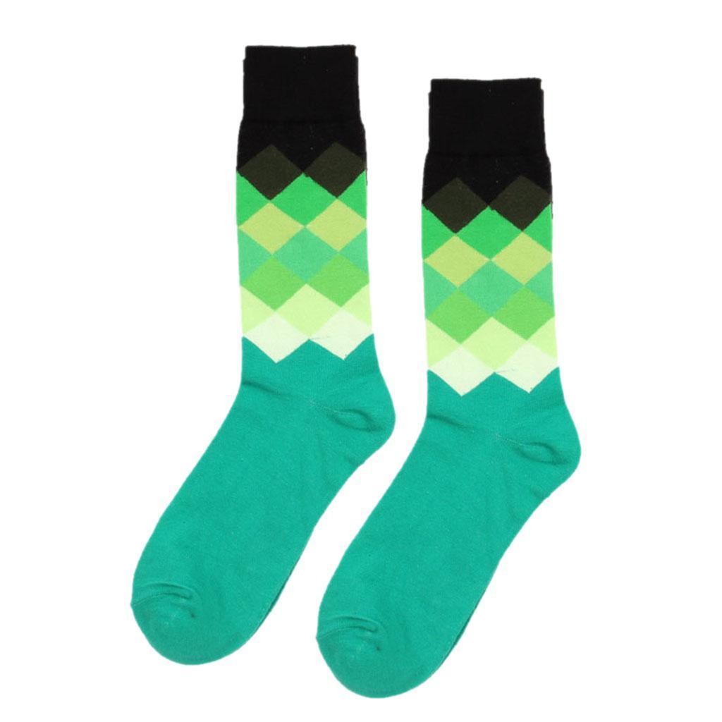 1 Pair Cotton Socks Multi-Color Fashion Dress Mens