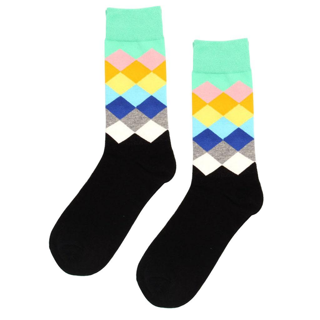 Wholesale 1Pair Cotton Socks Multi-Color Fashion Dress Mens