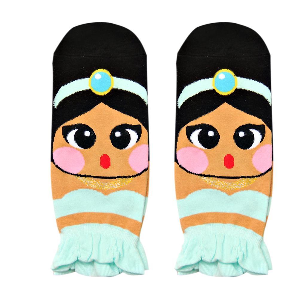 Women's Fashion Soft 3D Princess Series Korean Cotton Socks Princess Jasmine