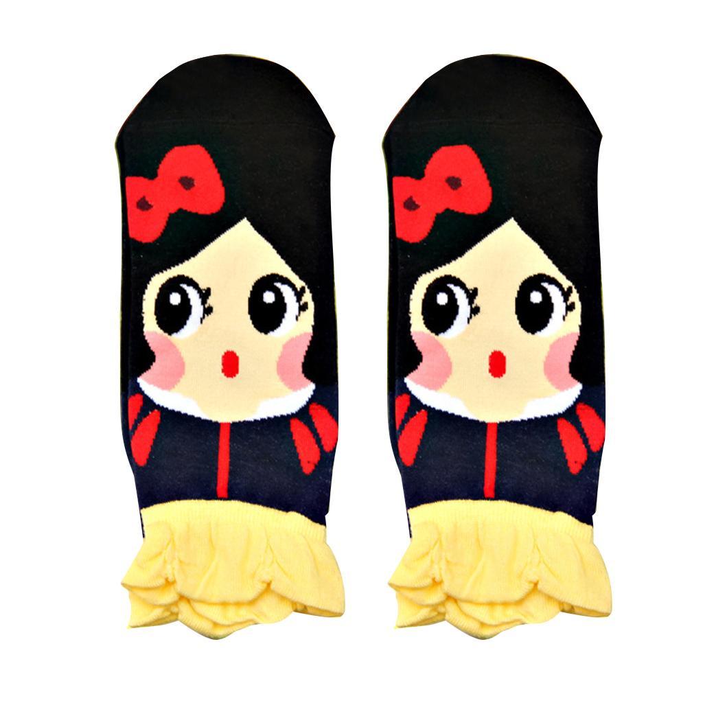 Women's Fashion Soft 3D Princess Series Korean Cotton Socks Snow White