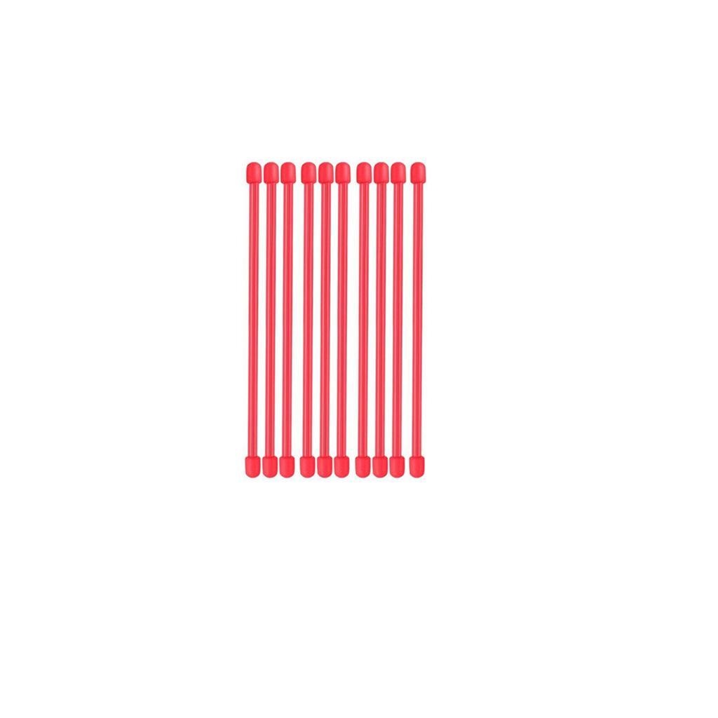 Rubber Twist Ties, Reusable Gear Ties 10 Pcs 6 inch Red