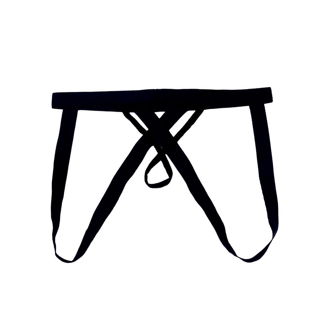 Men's Sexy Open Crotch G-string Thongs Underwear Briefs Knickers Black