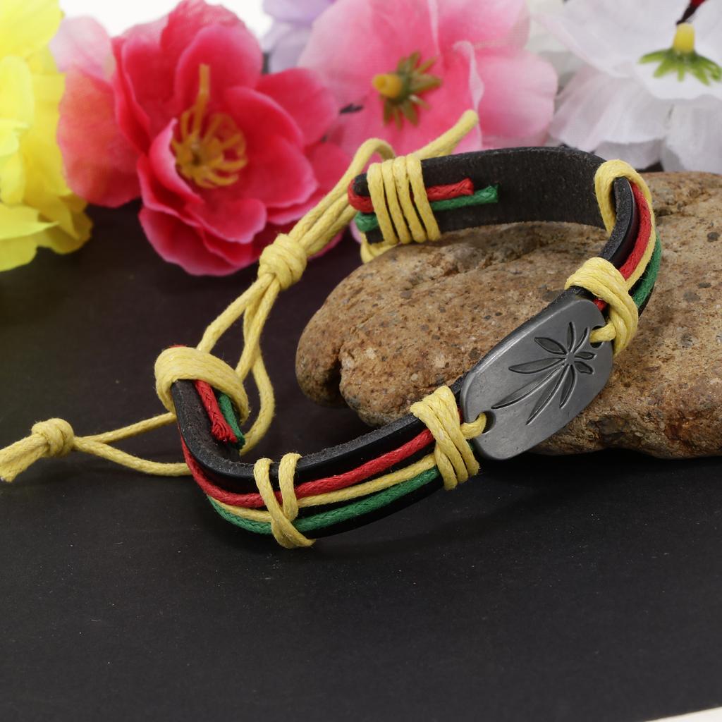 Women Men Braided I Love Jesus Wristband Bracelet Wrap Cuff Bangle Jewelry