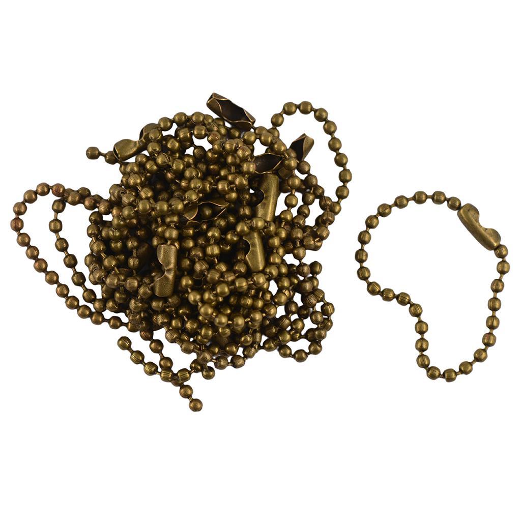 20pcs 10cm Ball Chain Connector Scrapbooking Key Chains Vintage Bronze