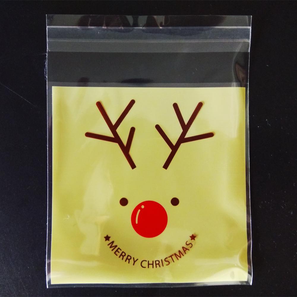 Christmas Cartoon Elk Cookie Bakery Candy Biscuit Roasting Gift Plastic Bag