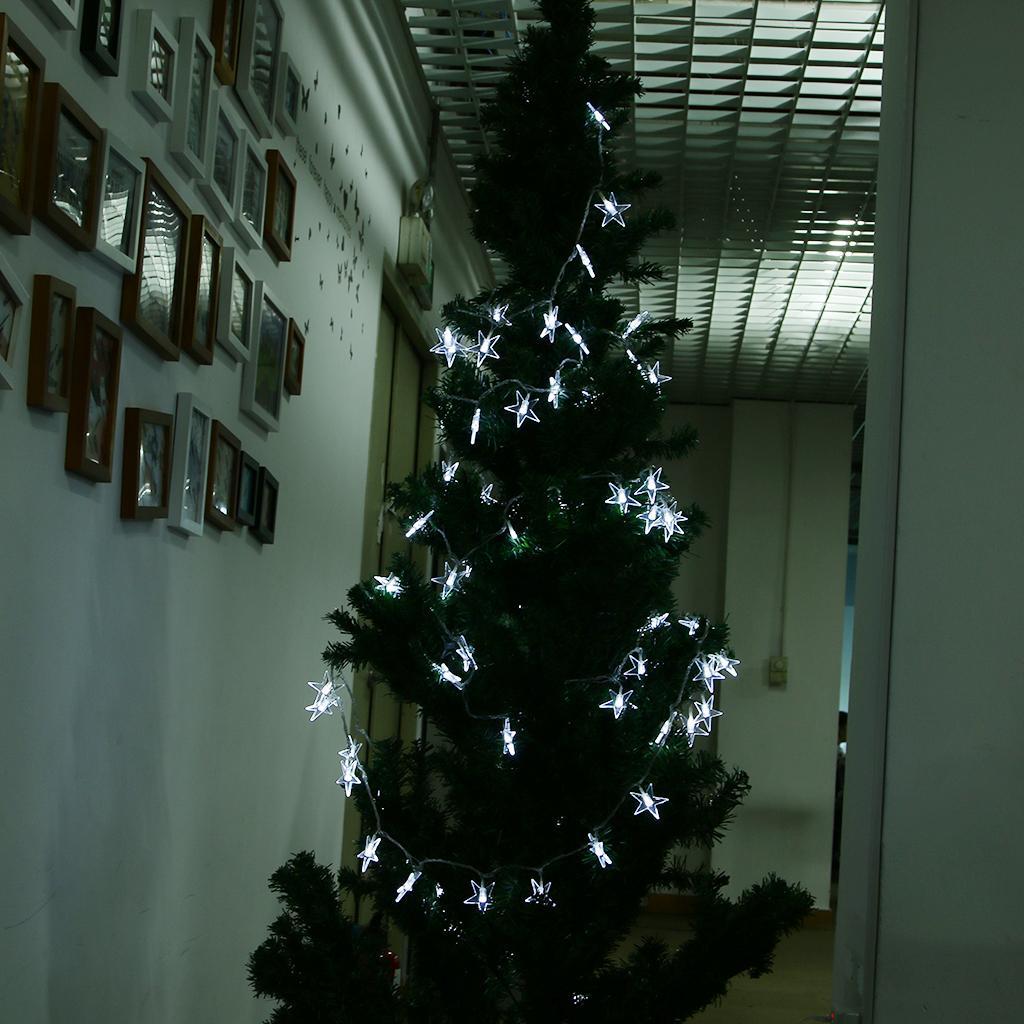 100 White LED 10M Stars Lights Fairy Strings Christmas Tree Decor EU Plug