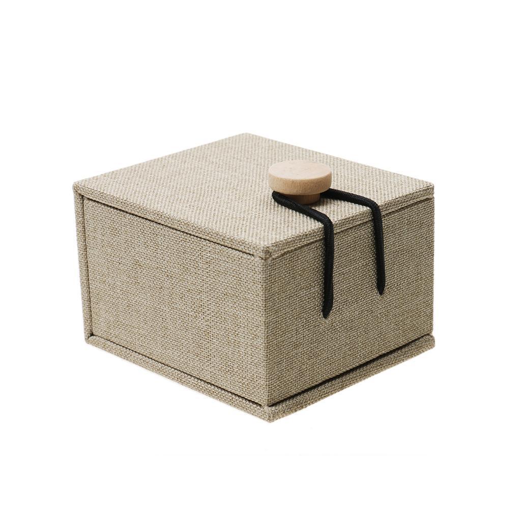 Wooden Pillow Cushion Bearer Rustic Wedding Ring Box Jewelry Holder Box A