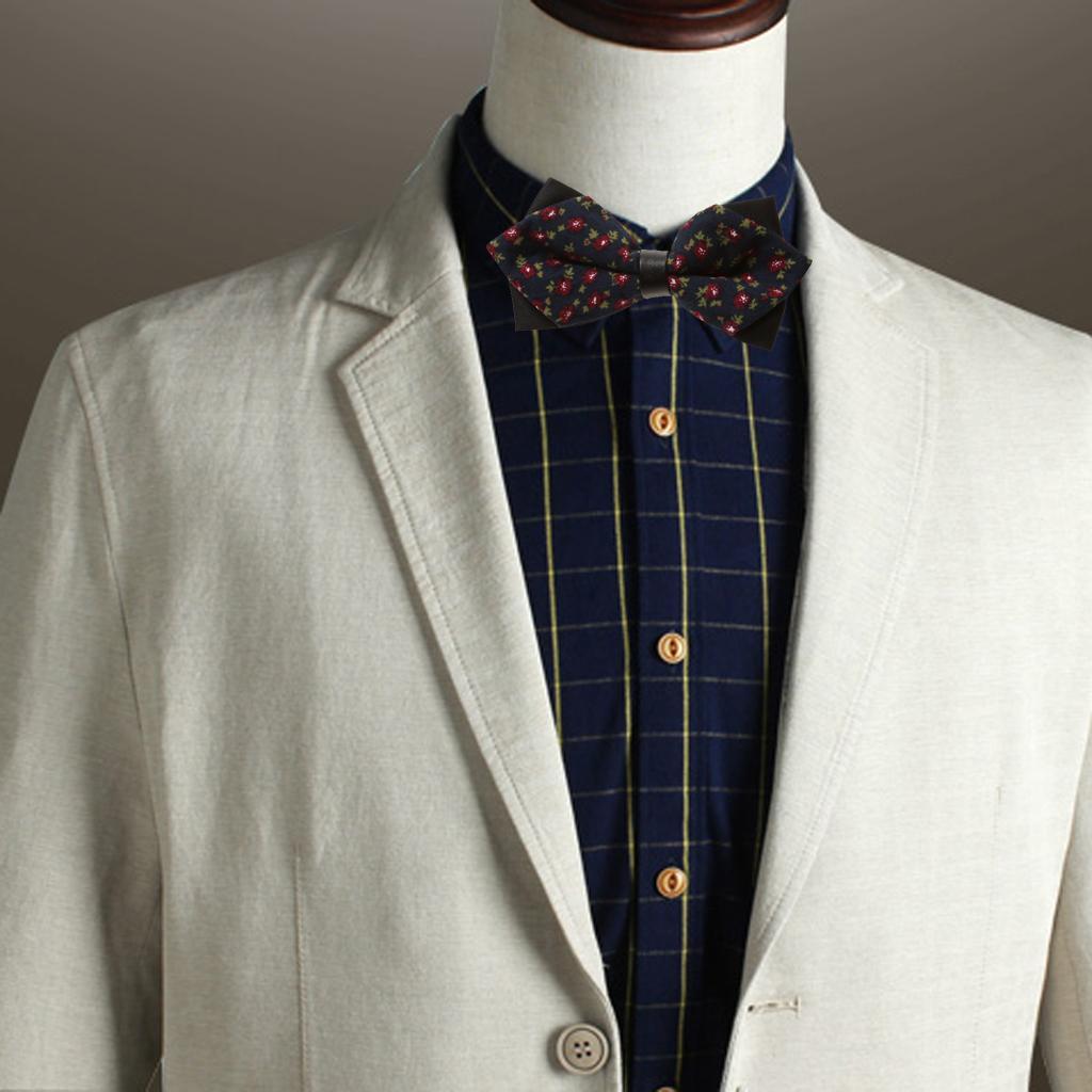 Fashion Men Wedding Bowtie Novelty Tuxedo Necktie Bow Tie Adjustable 1