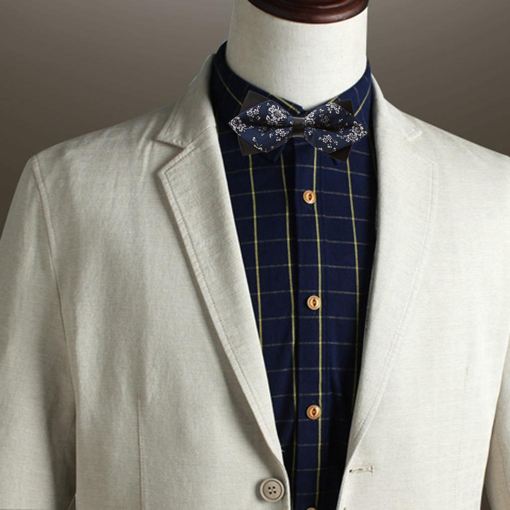 Fashion Men Wedding Bowtie Novelty Tuxedo Necktie Bow Tie Adjustable 3