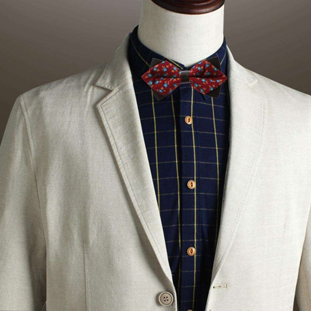 Fashion Men Wedding Bowtie Novelty Tuxedo Necktie Bow Tie Adjustable 11