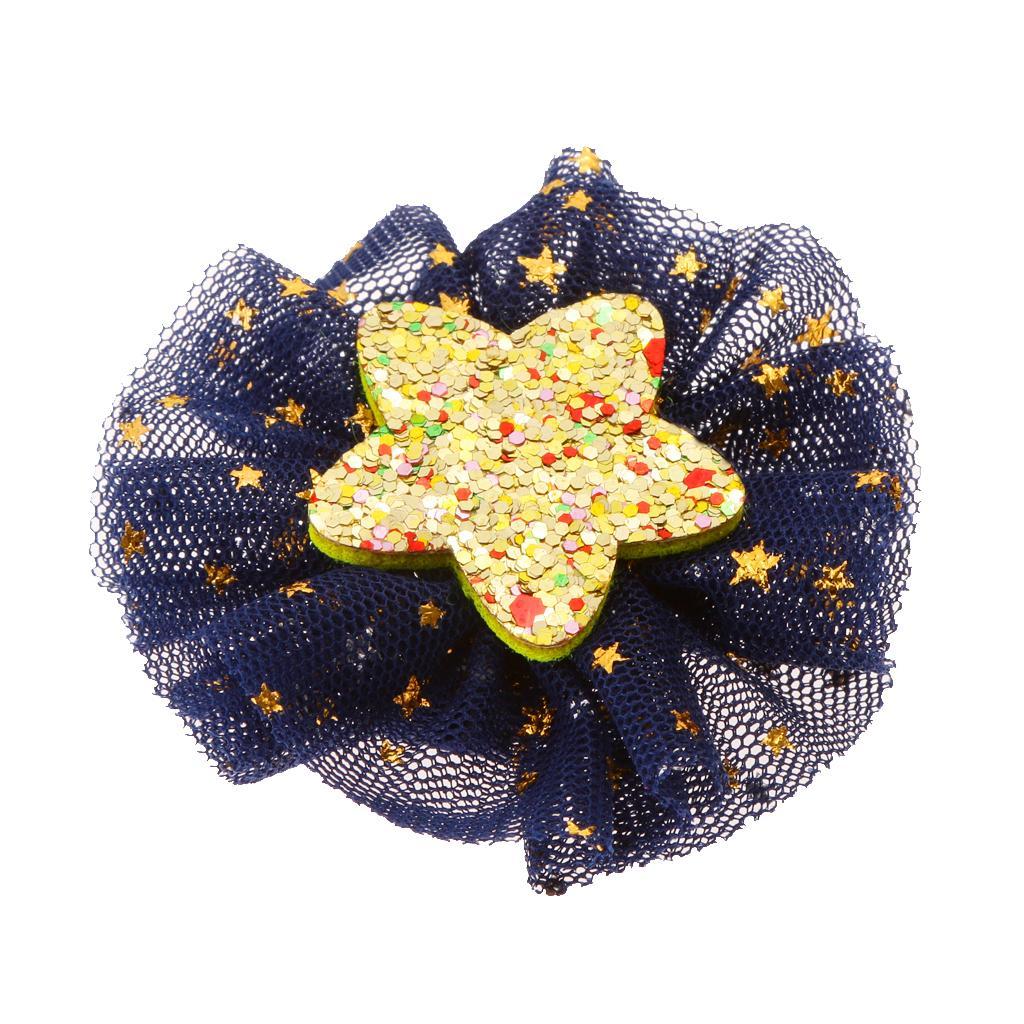 Cute Flower Hair Clips Kids Hairpins For Baby Kids Girls Deep Blue