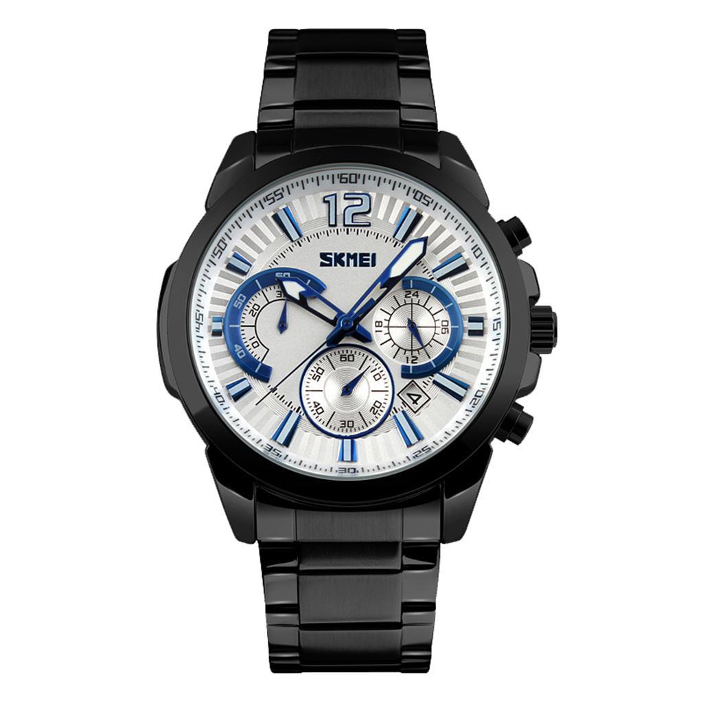 Men Business Quartz Smart Wristwatch Sport Casual Stainless Steel Waterproof #3