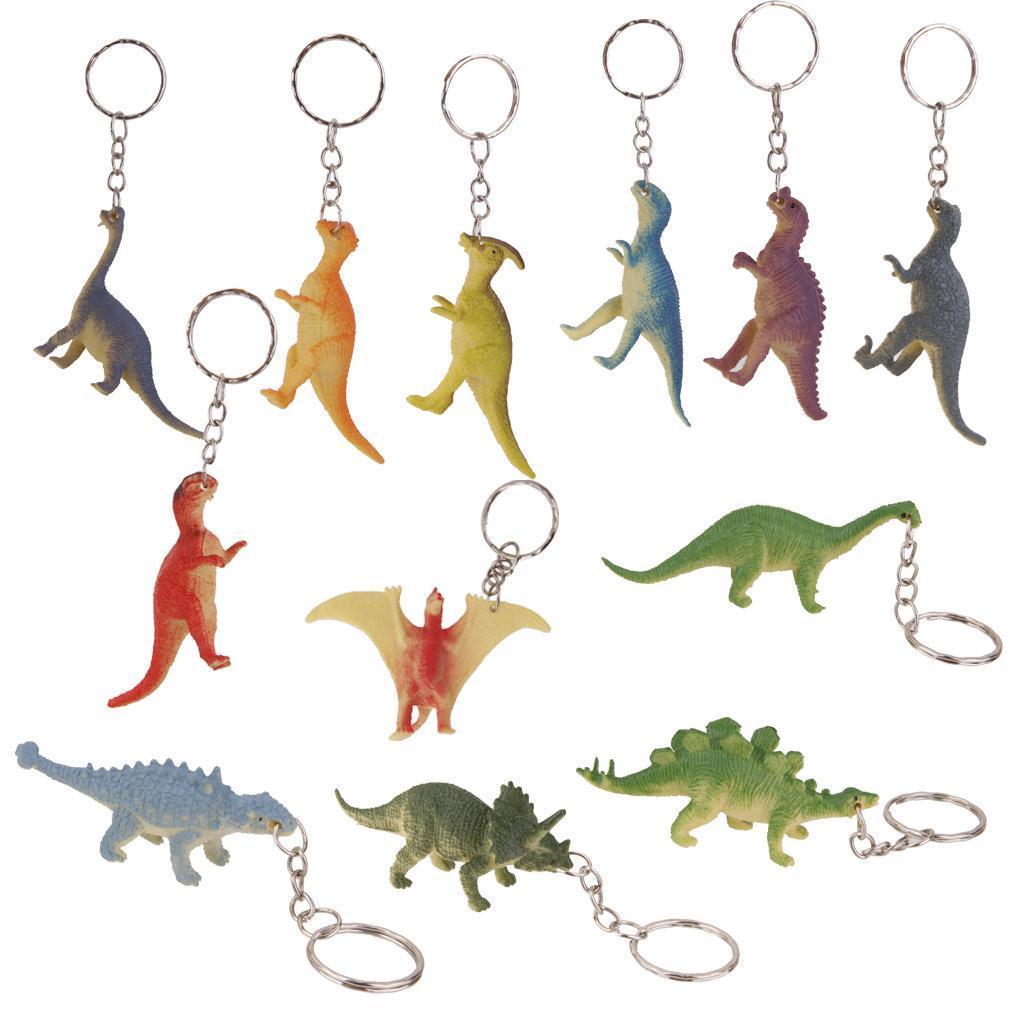 12pcs Dinosaur Keyrings