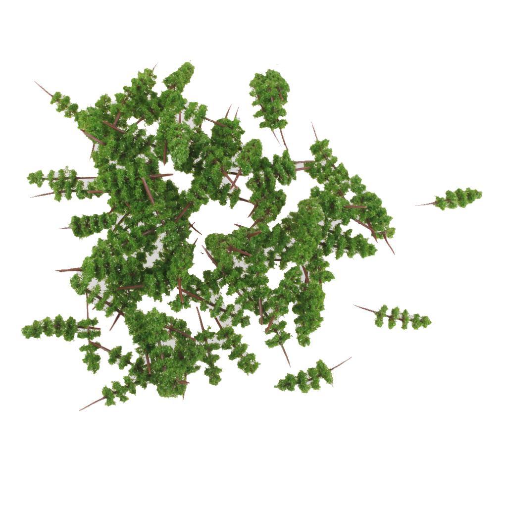 100pcs Green Model Trees 1:400-1:500 4cm TC40