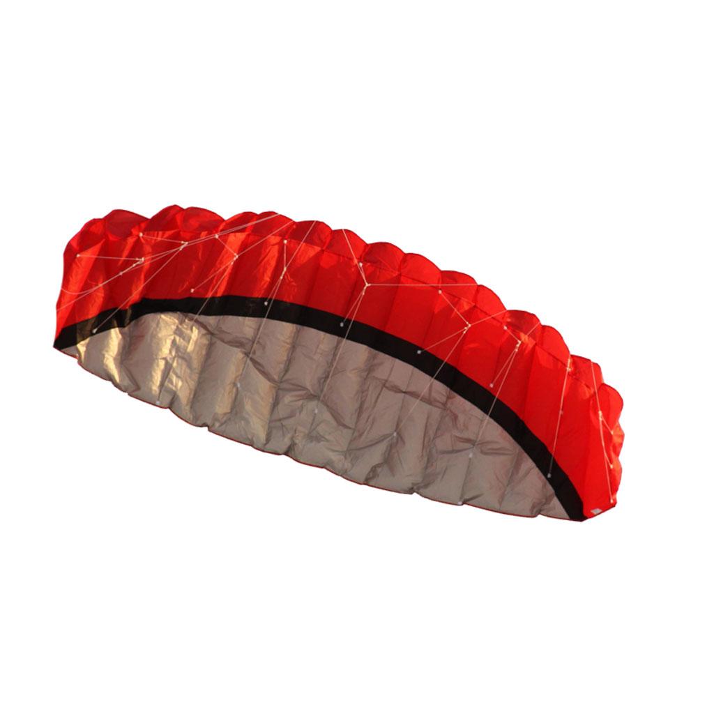 2.5m Outdoor Toys Dual Line Parafoil Parachute Stunt Sport Beach Kite RED