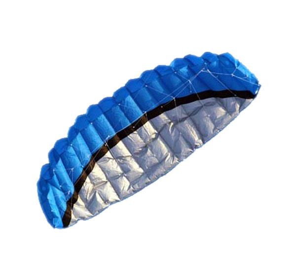 2.5m Outdoor Toys Dual Line Parafoil Parachute Stunt Sport Beach Blue Kite