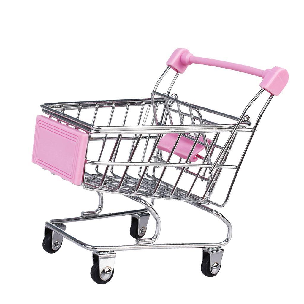 Mini Shopping Cart Trolley Toy Pink Free Shipping
