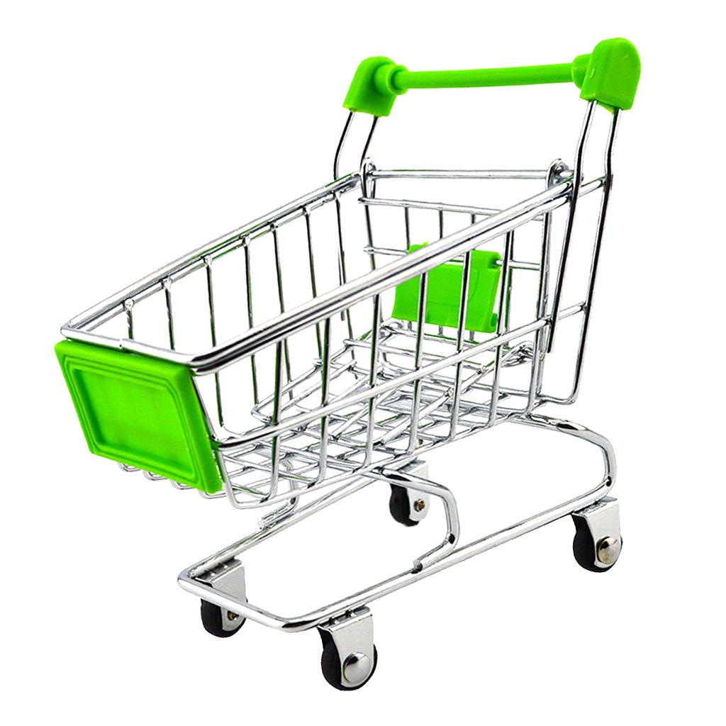 Mini Shopping Cart Trolley Toy Green