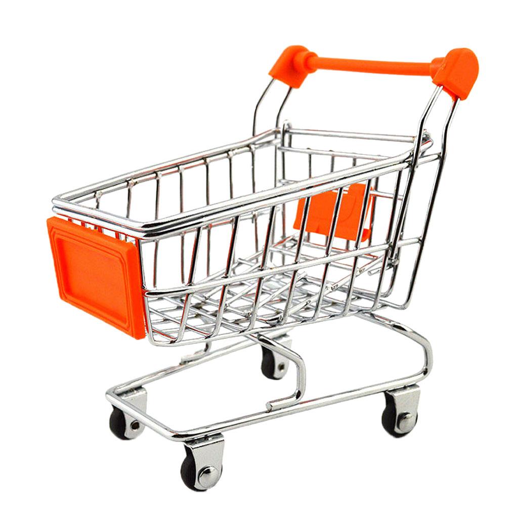 Mini Shopping Cart Trolley Toy Orange