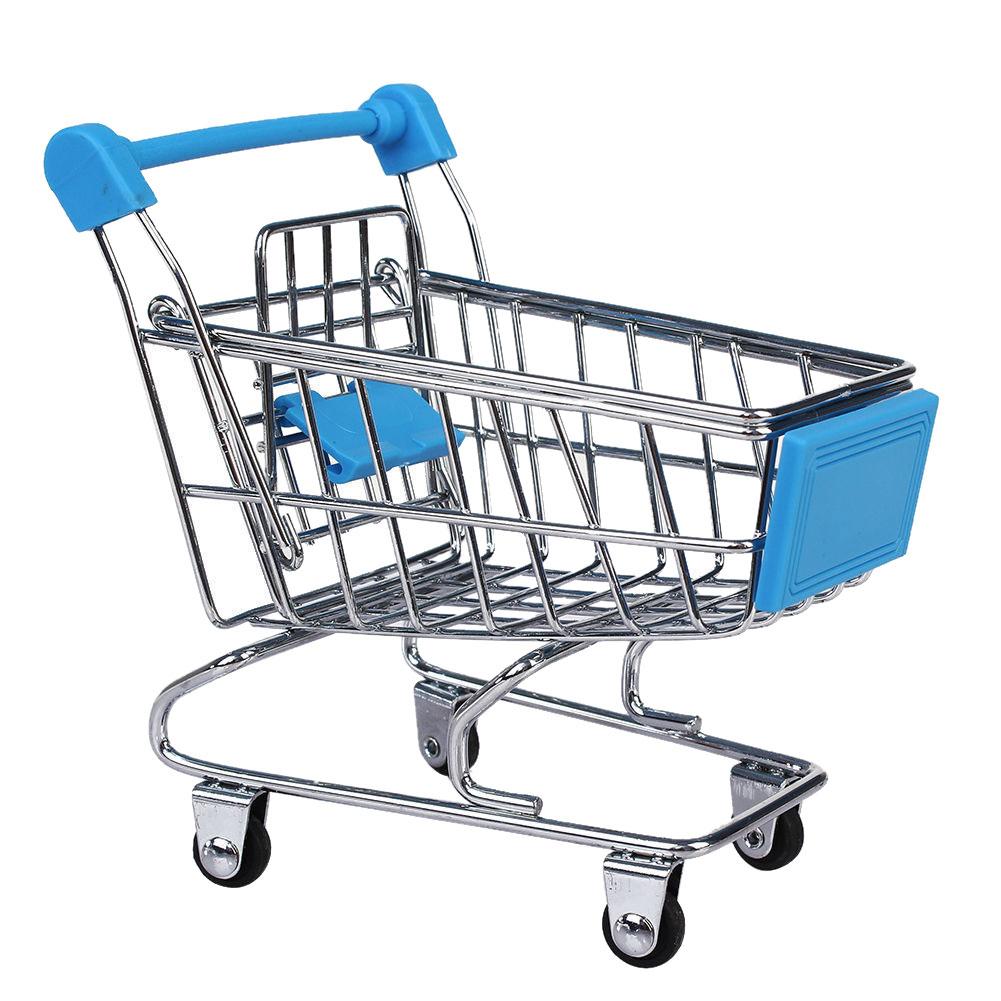 Mini Shopping Cart Trolley Toy Sky Blue