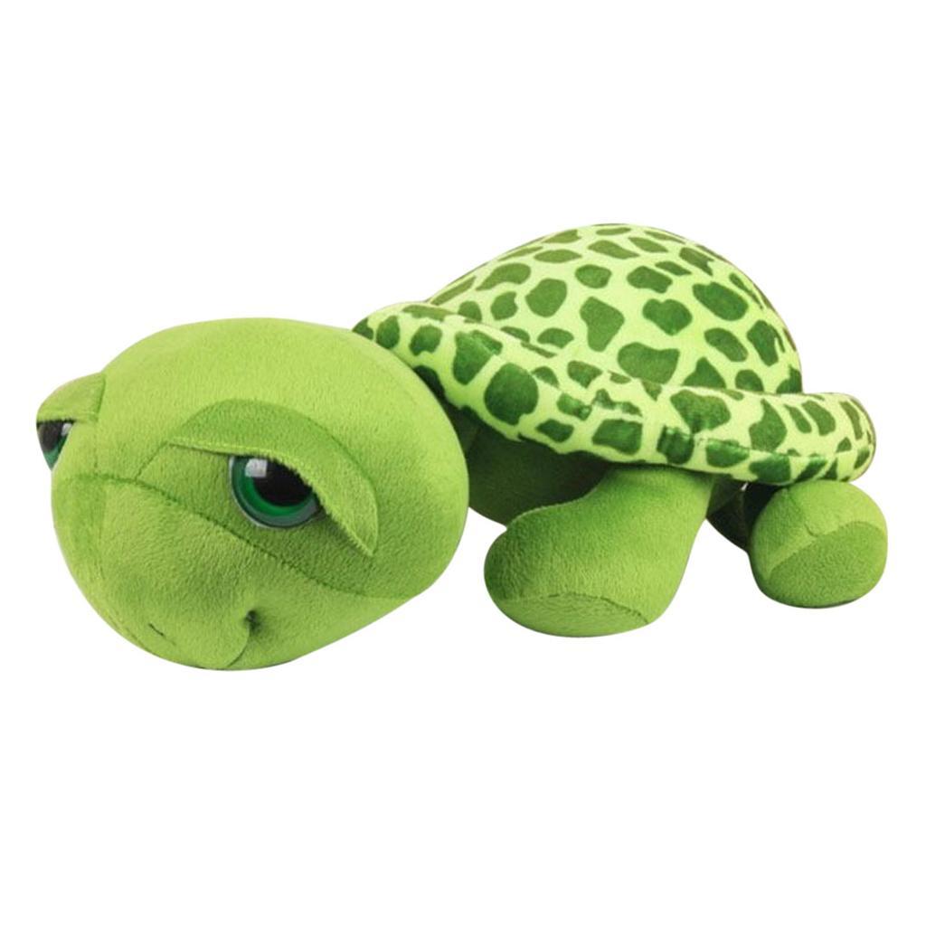 Cute Big Eyes Green Tortoise Turtle Stuffed Plush Toy Baby Kids Gift 20CM