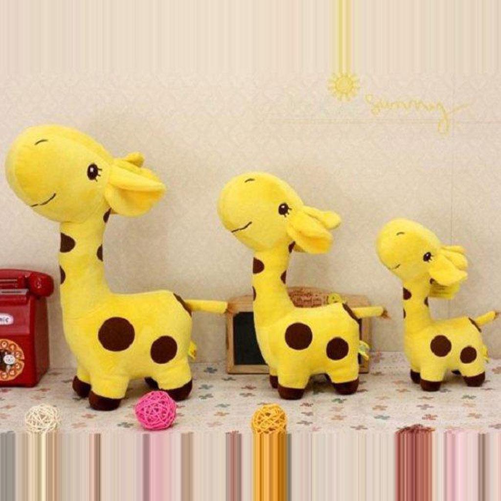 Cute Giraffe Soft Plush Toy Kids Stuffed Animal Gift - Yellow