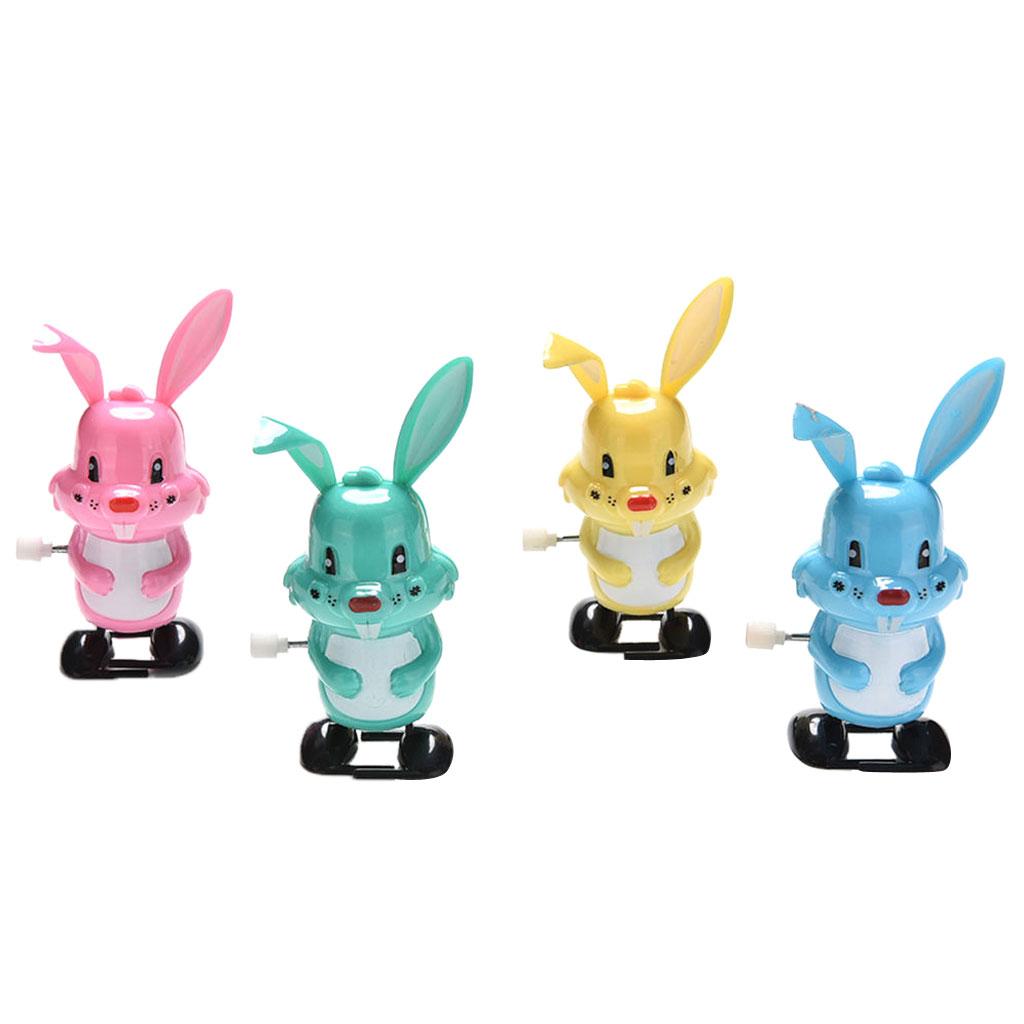 Wind Up Clockwork Rabbit Bunny Kids Toy Collectibles