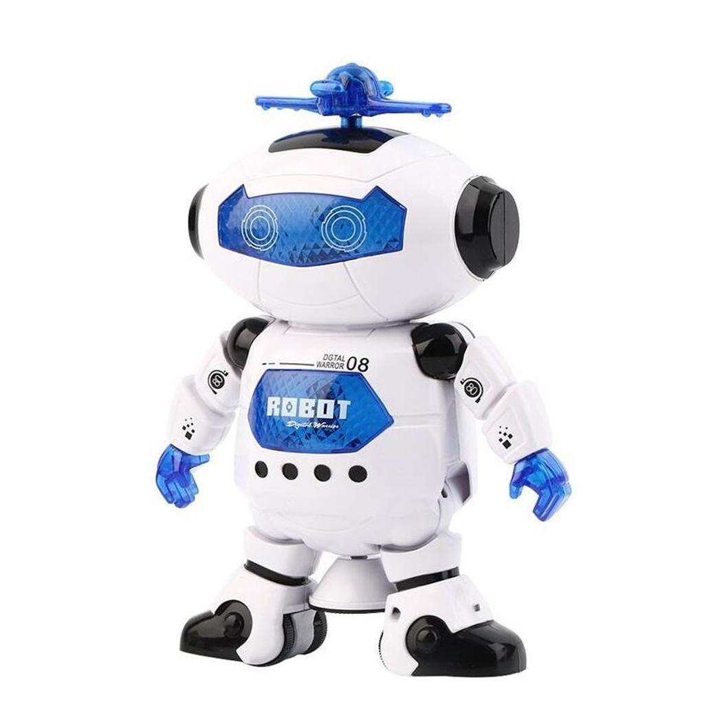 Christmas Robot Toys : Electric smart space walking dancing robot children music