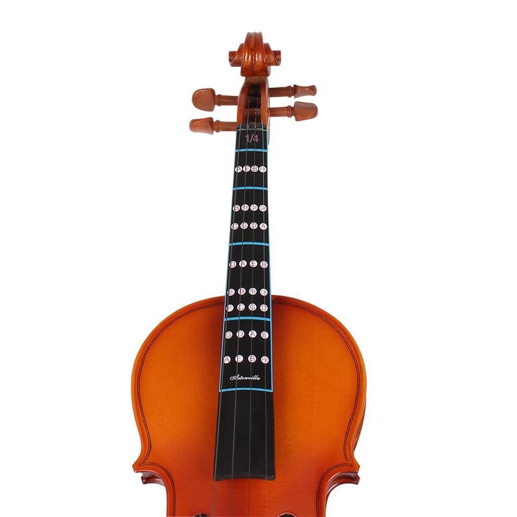 1 Violin Fiddle Fingerboard Intonation Chart Stickers Fingering Labels 1/4